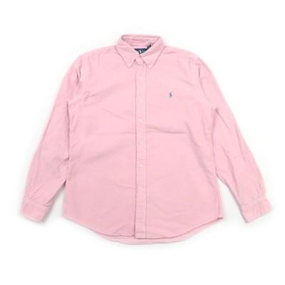 古着 ポロ ラルフローレン ボタンダウンシャツ コーディロイ ピンク 表記サイズ:M