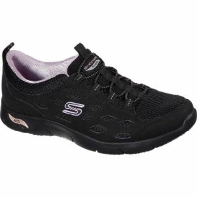 スケッチャーズ Skechers レディース スリッポン・フラット シューズ・靴 Arch Fit Refine Slip On Black/Lavender