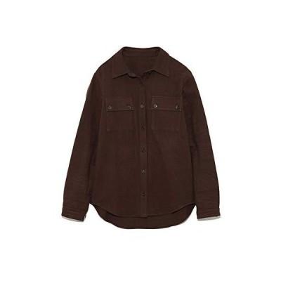 リリーブラウン ウールライクコットンシャツ LWFT195052 レディース BRW 日本 F (FREE サイズ)