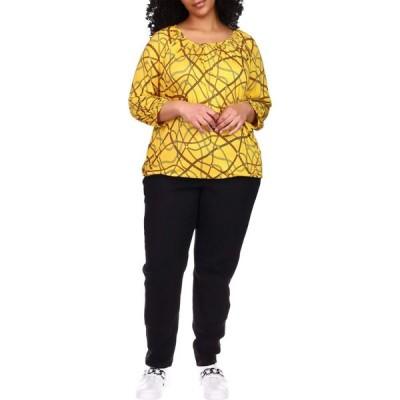 マイケル コース MICHAEL Michael Kors レディース ブラウス・シャツ 大きいサイズ トップス Plus Size Logo Chain Peasant Top Buttercup