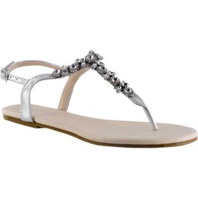 タッチアップ レディース サンダル シューズ Paula Thong Sandal Silver Mirror Synthetic