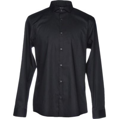 マイケル コース MICHAEL KORS MENS メンズ シャツ トップス solid color shirt Black