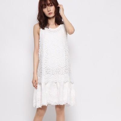 デシグアル Desigual ワンピース 袖なし (White)