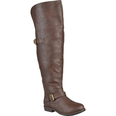 ジュルネ コレクション Journee Collection レディース ブーツ シューズ・靴 Kane Boot - Wide Calf Brown