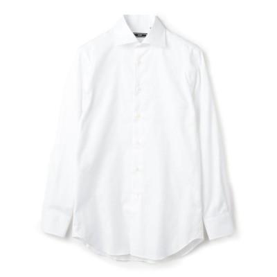 【シップス/SHIPS】 SD: イージーアイロン オックスフォード ソリッド ワイドカラー シャツ