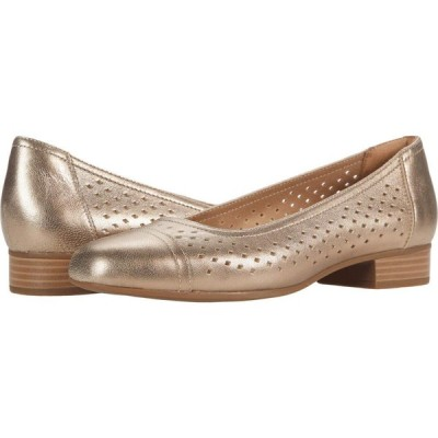クラークス Clarks レディース パンプス シューズ・靴 Juliet Cedar Metallic Leather