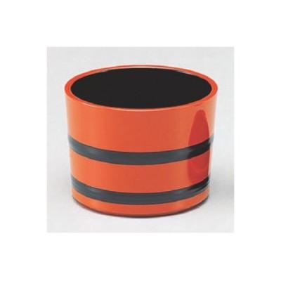 つゆ入れ (小)桶型つゆ入れ朱帯黒 高さ63 直径:84/業務用/新品