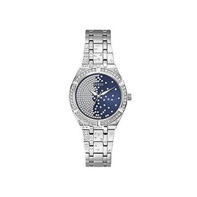 特別価格GUESS Women's Quartz Watch with Stainless Steel Strap, Silver, 16 (Model: G好評販売中