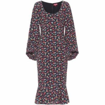 スタウド Staud レディース ワンピース ミドル丈 ワンピース・ドレス lara printed midi dress Black Multi Mushroom
