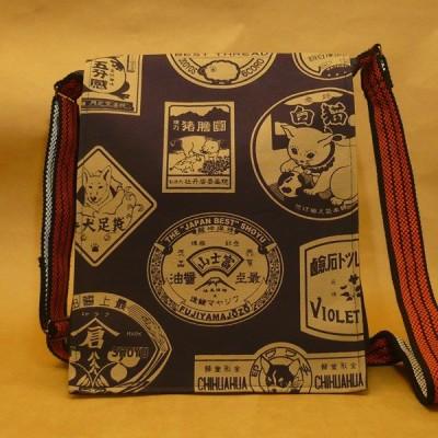 倉敷デニム製 デニムショルダーバッグ 「看板柄 紺」