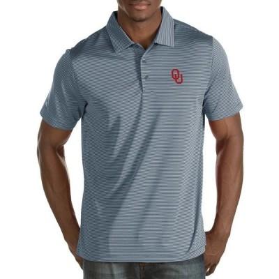 アンティグア メンズ ポロシャツ トップス NCAA Quest Short-Sleeve Polo Shirt Oklahoma Sooners/Grey
