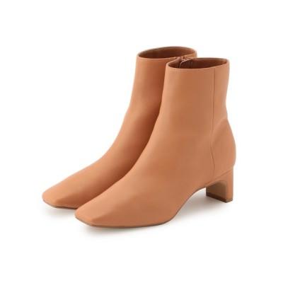 ROPE' / 【21SS】ソフトレザースクエアショートブーツ WOMEN シューズ > ブーツ