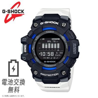 G-SHOCK CASIO メンズ 腕時計 G-SQUAD GBD-100-1A7 ブラック ホワイト ブルー 黒 スマホ連動 トレーニング