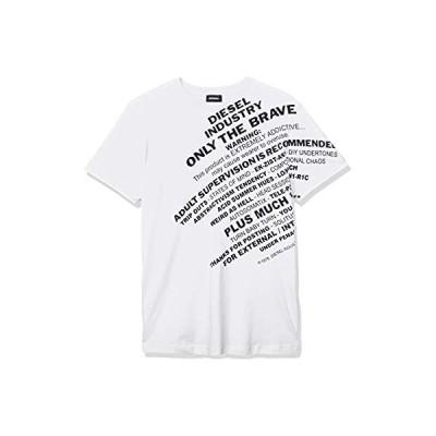 (ディーゼル) DIESEL メンズ Tシャツ プリント 00SEGB0091A S ホワイト 100