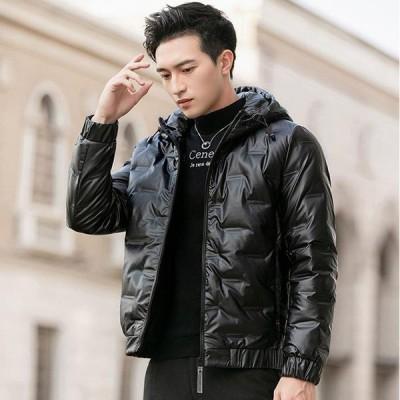 ダウンコート メンズ ショート丈 ダウンジャケット 無地 ライトダウン 大きいサイズ 防寒 防風 高品質 暖かい オフィス 通勤 20代 30代