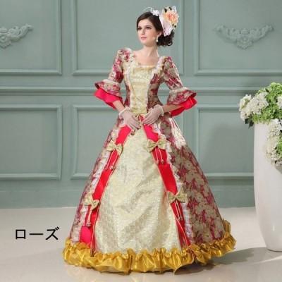 豪華なドレス ジュリエットコスプレ衣装 ヨーロッパ風 ワンピース 長裾 貴婦人 演出服 ダンスパーティ パーティードレス ウェディングドレスda188f0f0h2