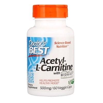 Biosintカルニチン入りアセチルLカルニチン, 500 mg, ベジキャップ60錠