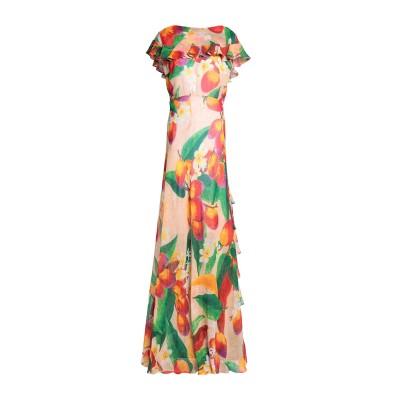 イソルダ ISOLDA ロングワンピース&ドレス グリーン 36 シルク 100% ロングワンピース&ドレス