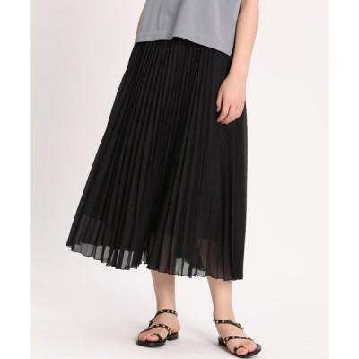INED L / 《大きいサイズ》ジャガードプリーツスカート