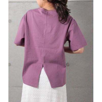 【フレディアンドグロスター】 表振りステッチTシャツ レディース ライト パープル 38 FREDY&GLOSTER