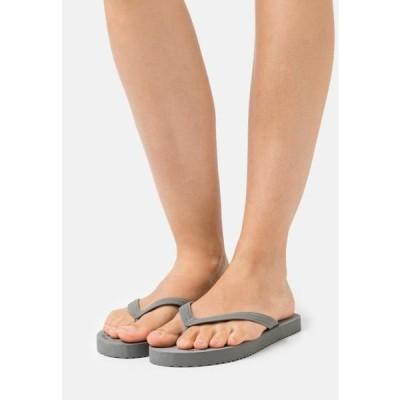 フリップフロップ レディース サンダル ORIGINALS ECO - Pool shoes - steel