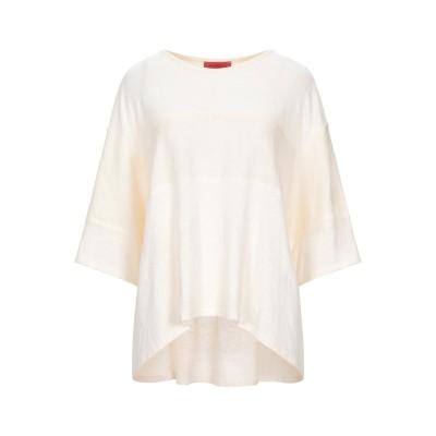MAX & CO. T シャツ アイボリー XL リネン 95% / ポリウレタン 5% T シャツ