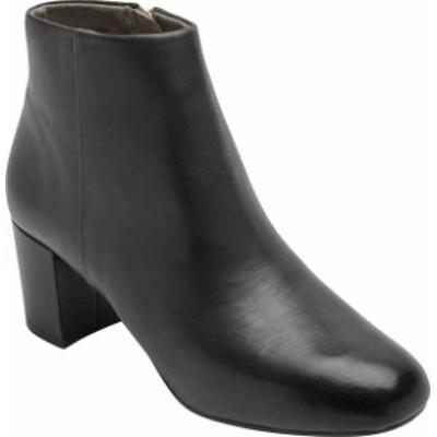 ロックポート レディース ブーツ・レインブーツ シューズ Women's Rockport Total Motion Oaklee Plain Ankle Boot Black Leather