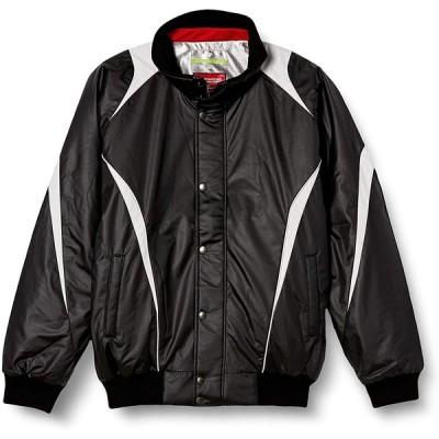 [エスエスケイ] ジャケット 蓄熱グラウンドコート フロントフルZIP+ボタン比翼付き(中綿) メンズ ブラック×シルバーグレー (9095) 2XO