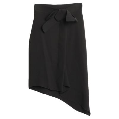 ランバン LANVIN ミディスカート ブラック 36 シルク 74% / レーヨン 26% ミディスカート