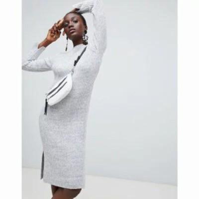 ヴェロモーダ ワンピース Knitted Midi Dress Light grey mel