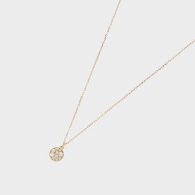 ココシュニック COCOSHNIK K18ダイヤモンド ランダムパヴェ ラウンドネックレス (イエローゴールド)