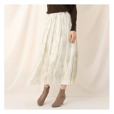 【クチュール ブローチ/Couture brooch】 フラワープリントランダムギャザースカート