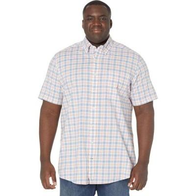 ノーティカ Nautica Big & Tall メンズ シャツ 大きいサイズ ワイシャツ トップス Big & Tall Classic Fit Plaid Oxford Shirt Sugar Coral