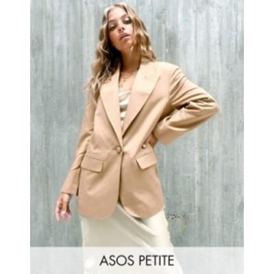 エイソス レディース ジャケット・ブルゾン アウター ASOS DESIGN Petite perfect blazer in camel Camel