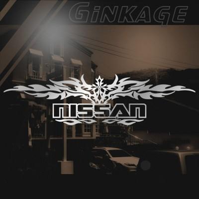 NISSAN ニッサン ステッカー 車 かっこいい 十字架 トライバル エンブレム リアガラス用 ステッカー