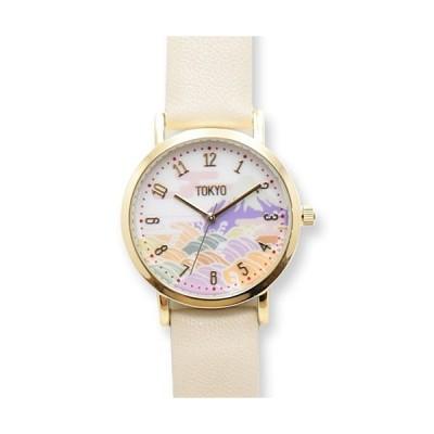 フィールドワーク 腕時計/TOKYO DESIGN 日本製 和柄レザーウォッチ/富士山 アイボリー TD001-1 IV(取)