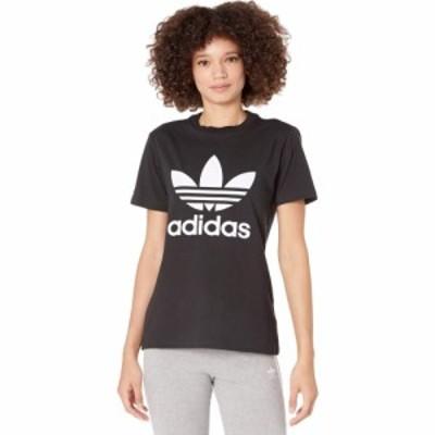 アディダス adidas Originals レディース Tシャツ トップス Trefoil Tee Black