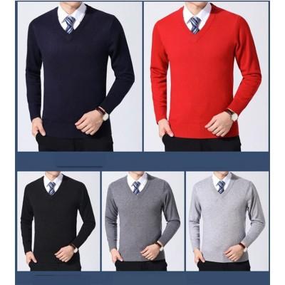 [55555SHOP] ✨ 高品質✨新品 秋冬物 20代 30代 40代 50代60代メンズ ビジネス 通勤 フォーマル  ニット トップス スリム 快適 い生地  暖かい セーター