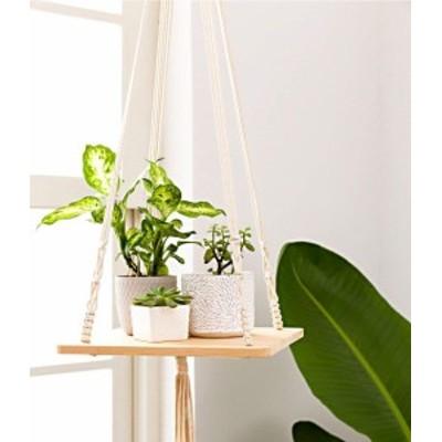 プランターラック 吊り棚 マクラメ編み 棚 ぶら下げプランター 植物ハンガー 吊り下げ 植物スタンド 小物置き インテリア おしゃれ