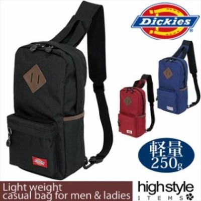ボディバッグ  Dickies ディッキーズカジュアル 旅行 サイドポケット付き軽量ワンショルダーバッグ