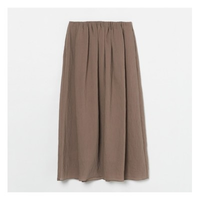 【エリオポール/HELIOPOLE】 HELIOPOLE シアーシルクタックギャザースカート