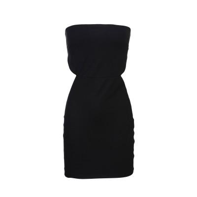 ELISABETTA FRANCHI ミニワンピース&ドレス ブラック 44 ナイロン 80% / ポリウレタン 20% ミニワンピース&ドレス
