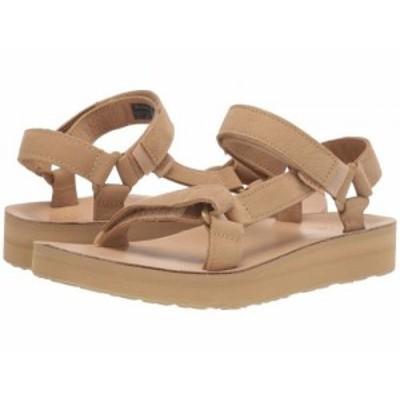 Teva テバ レディース 女性用 シューズ 靴 サンダル Midform Universal Leather Desert Sand【送料無料】