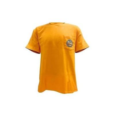 メンズ ウェア Tシャツ ハーレーダビッドソン Harley-Davidson Mens Distressed Genuine Chest Pocket Graphic T-Shirt, Gold