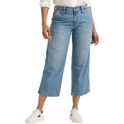 ラッキーブランド Lucky Brand レディース ジーンズ・デニム ワイドパンツ ボトムス・パンツ Mid-Rise Crop Wide Leg Jeans in Garford Garford