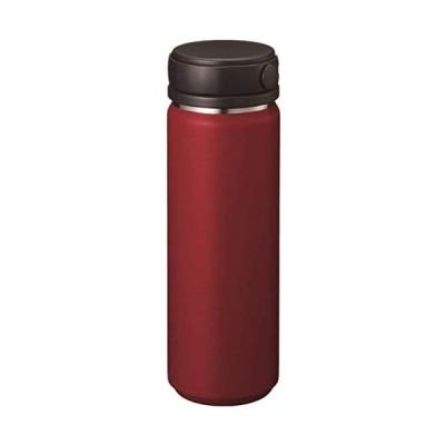 ゴーウェル Zalatto マグボトル 直飲み サーモ ステンレスボトル 真空断熱 保温 保冷 水筒 (ハンドル (レッド 500ml)