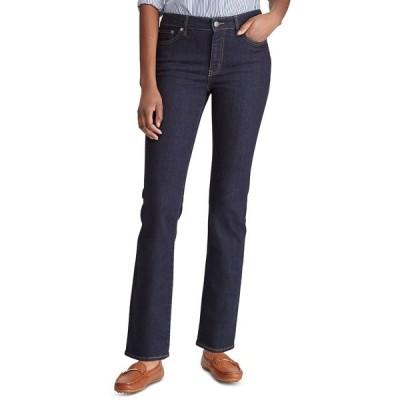 ラルフローレン デニムパンツ ボトムス レディース Super Stretch Premier Straight Jeans, Regular and Short Lengths Dark Rinse Wash