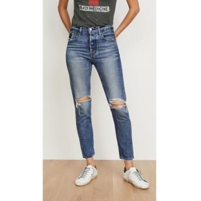 マウジー MOUSSY VINTAGE レディース ジーンズ・デニム ボトムス・パンツ Beckton Tapered Jeans Dark Blue