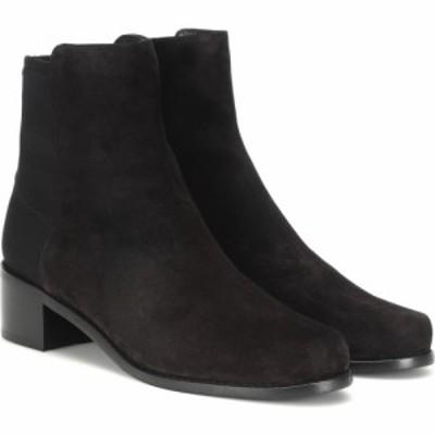 スチュアート ワイツマン Stuart Weitzman レディース ブーツ ショートブーツ シューズ・靴 easy on reserve suede ankle boots Black