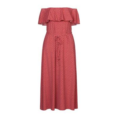 SIYU 7分丈ワンピース・ドレス レッド 40 ナイロン 72% / ポリウレタン 28% 7分丈ワンピース・ドレス